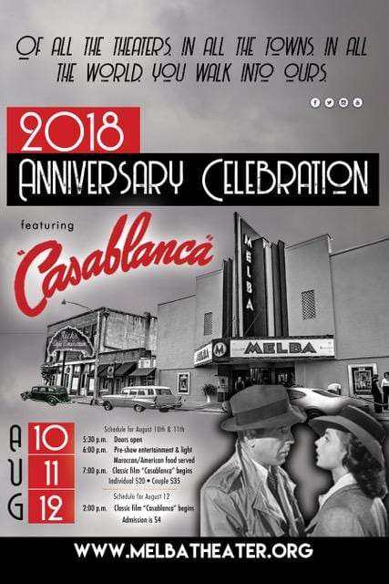 Melba Theater to roll out red carpet for 2018 Anniversary Celebration, Aug 10-12