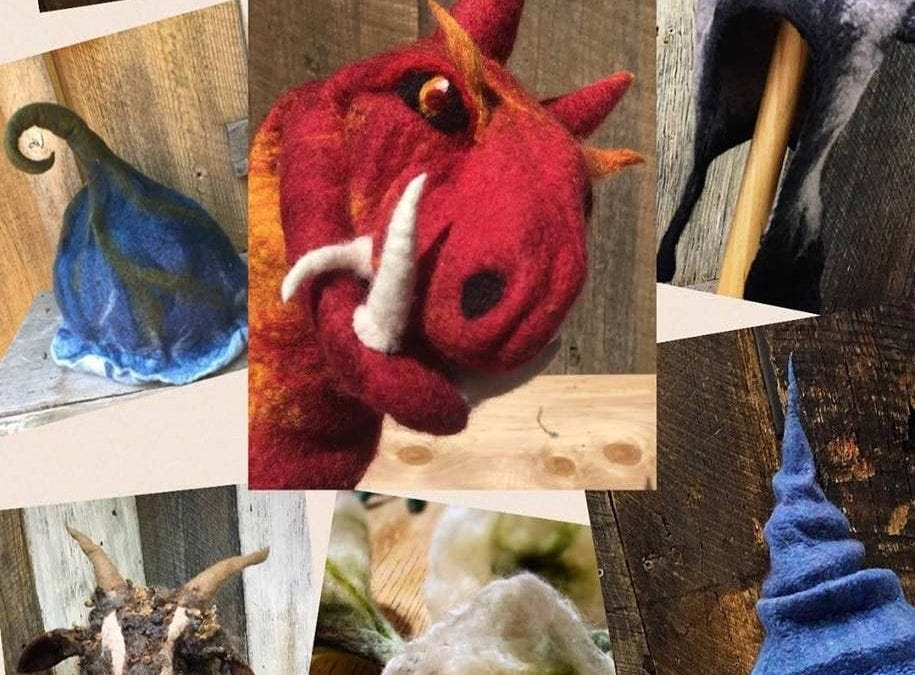 """Connecting with Craft,"" wool felting will be demonstrated by Leigh Abernathy at the Arkansas Craft Gallery, 10 to 5"