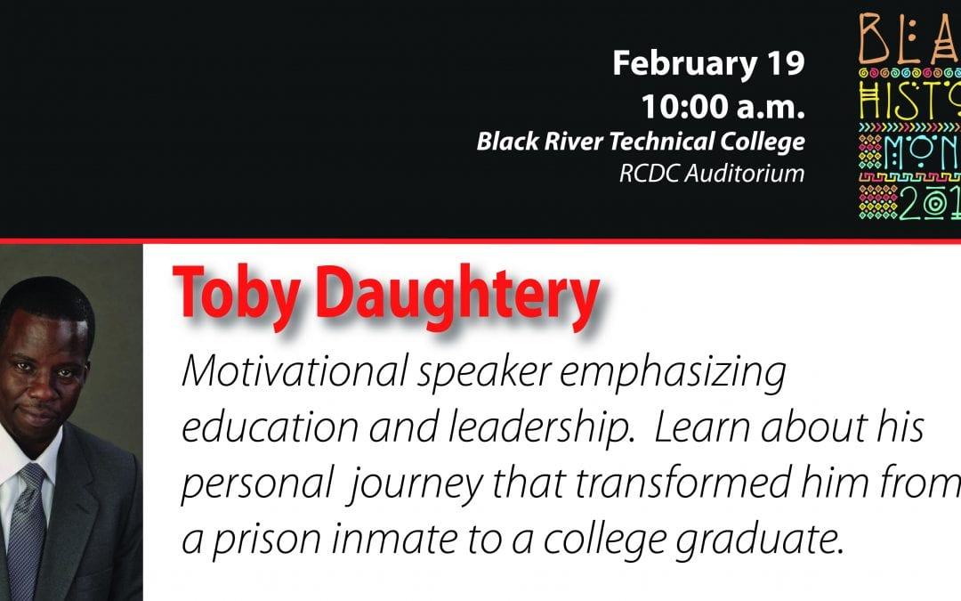 The BRTC Foundation and Eddie Mae Herron Center present Black History Speaker-Toby Daughtery