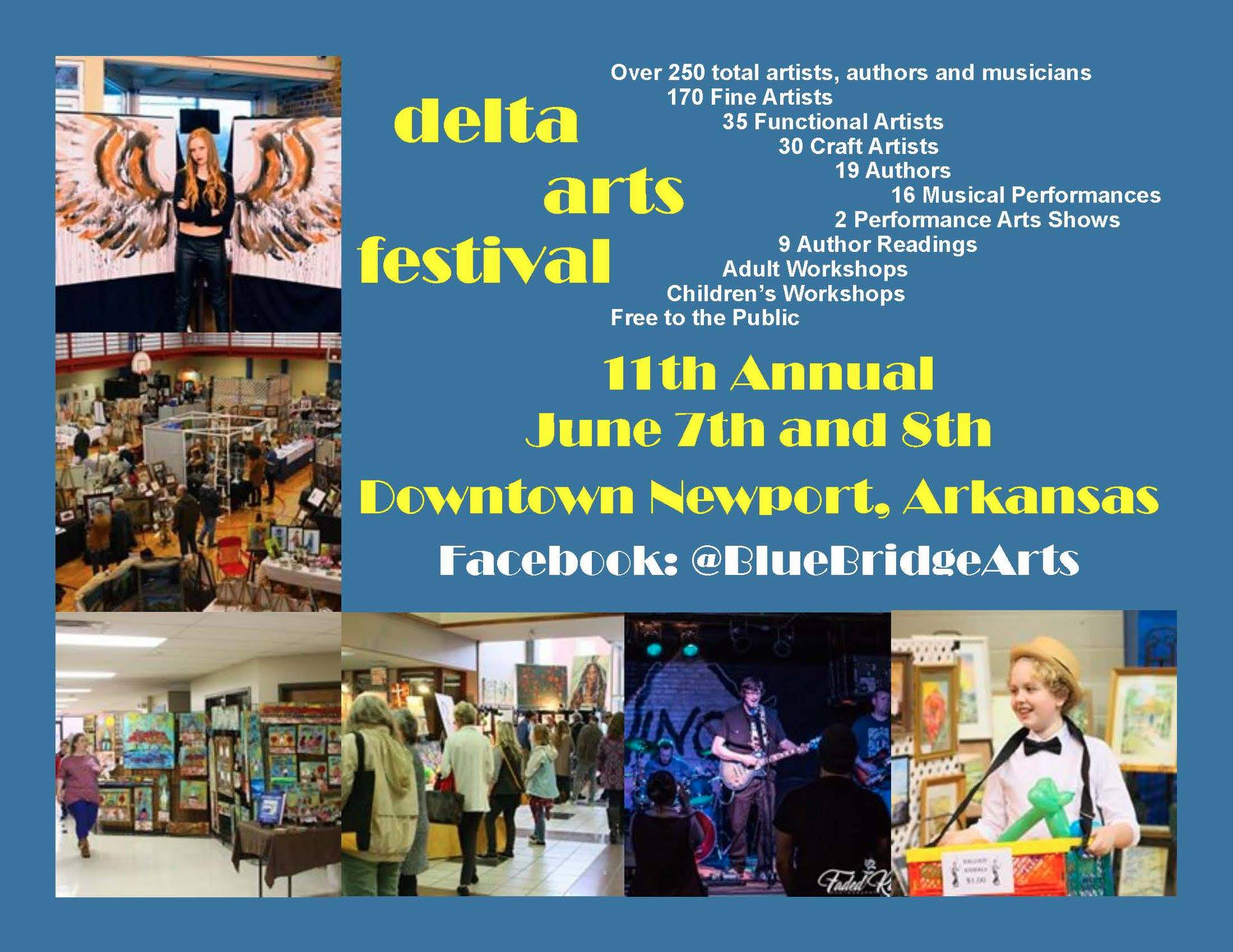 11th Annual Delta Arts Festival Today & Tomorrow, downtown Newport Arkansas