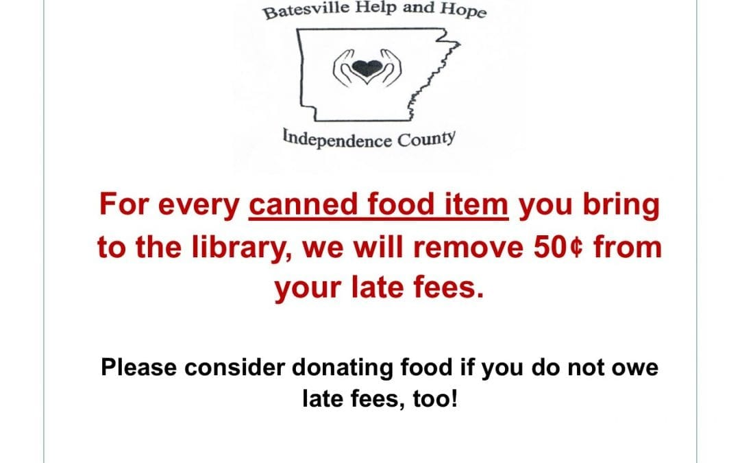 Library to Host Canned Food Drive