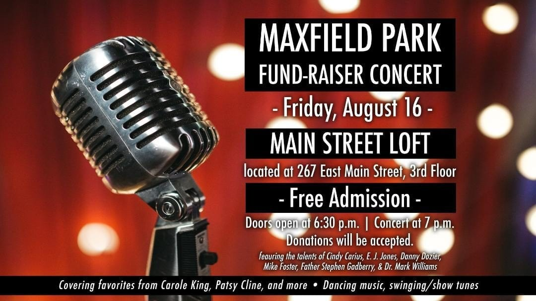 Concert to Benefit Maxfield Park in Downtown Batesville Arkansas