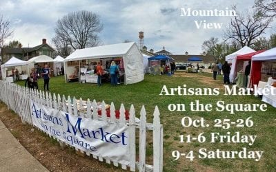 Artisans Market on the Square at Bean Fest in Mountain View will be Oct. 25 and 26.  Friday, hours are 11 to 6