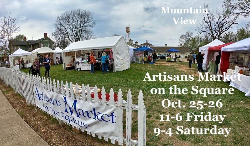 Artisans Market on the Square at Bean Fest inMountain View will be Oct. 25 and 26. Friday, hours are 11 to 6