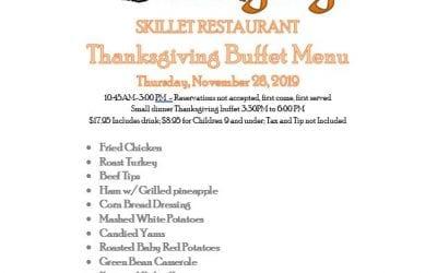 Enjoy a Relaxing Happy Thanksgiving at the Ozark Folk Center Skillet Restaurant