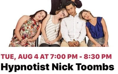 Farmers Electric's Monster Family Nights is excited to host comedy hypnotist Nick Toombs on Tuesday, August 4th at 7 p.m.